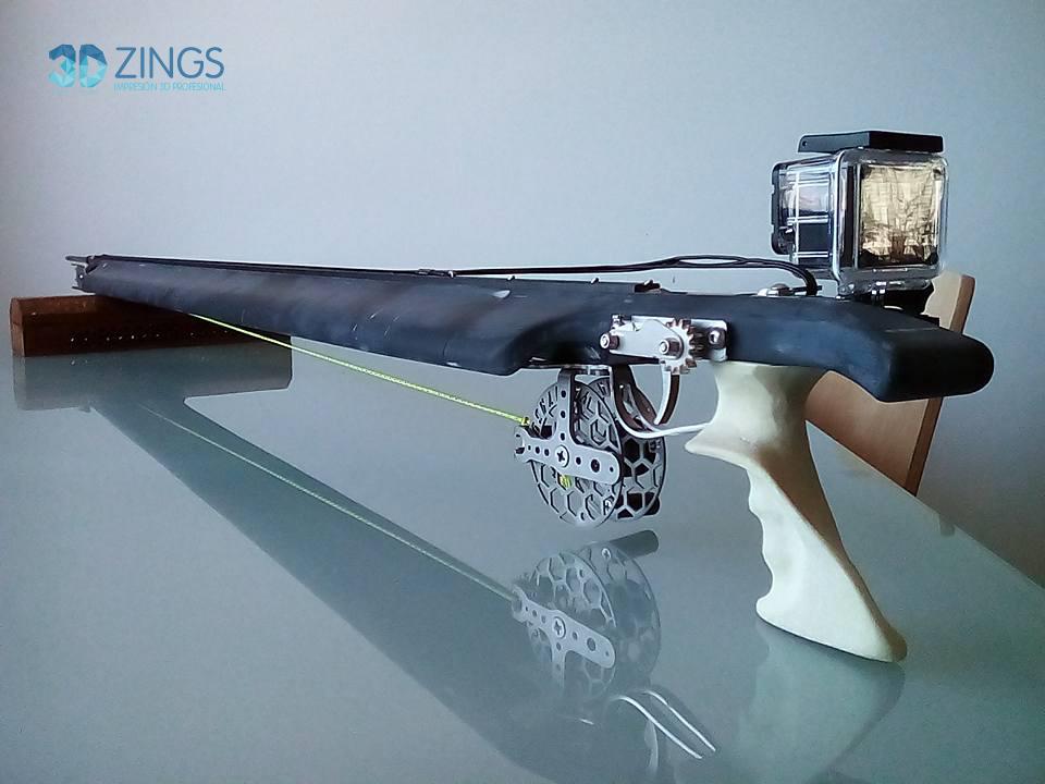 fusil de pesca en impresion 3D