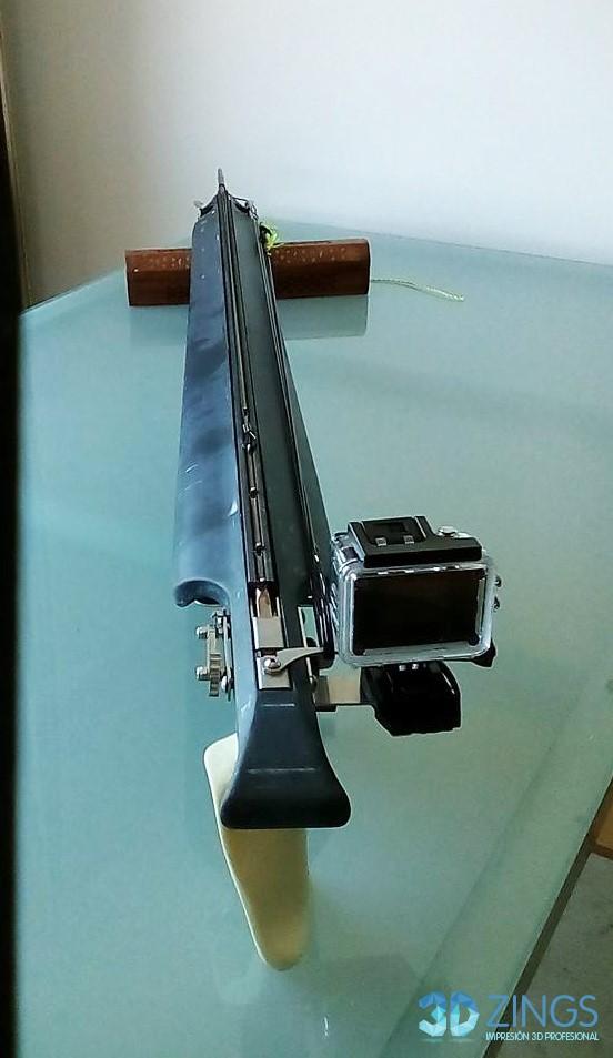 rifle de pesca en impresión 3D