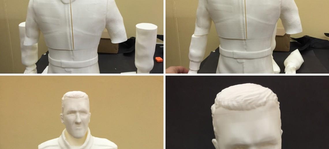 Escultura 3D de Michael Schumacher - Impresión 3D