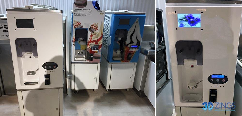 finalización de la impresión 3d de una carcasa de máquina de helado