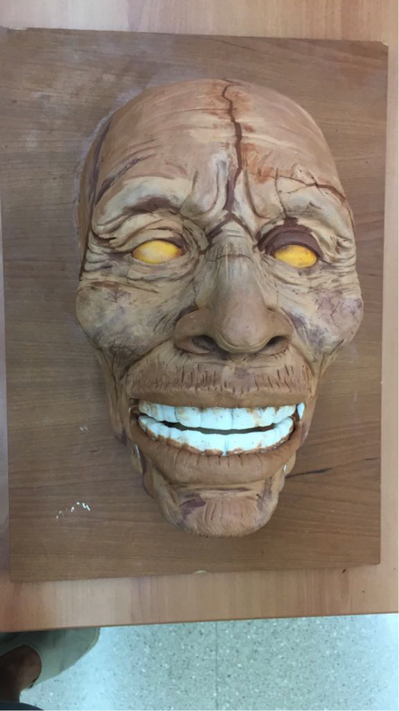 Máscara de arcilla para escaneado