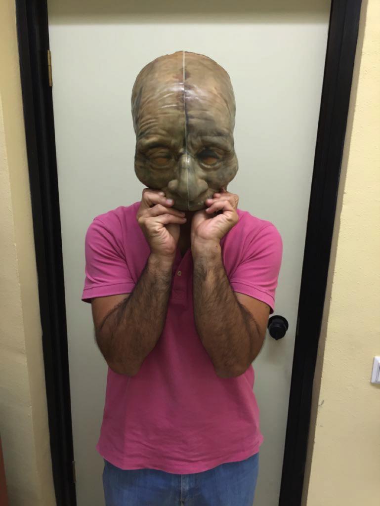 tamaño real de la máscara escaneada e impresa en 3d