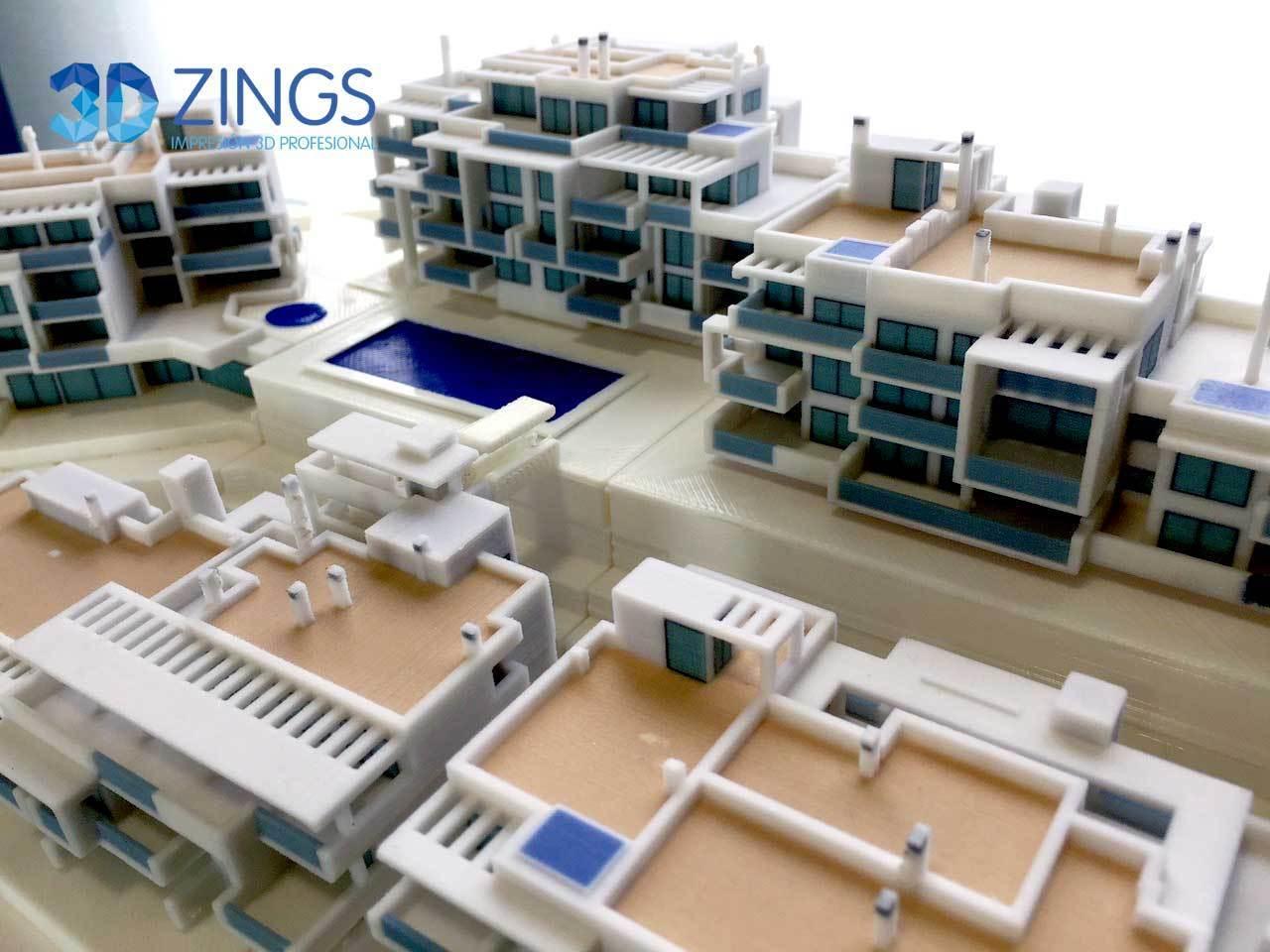 Segunda vista de la maqueta de arquitectura