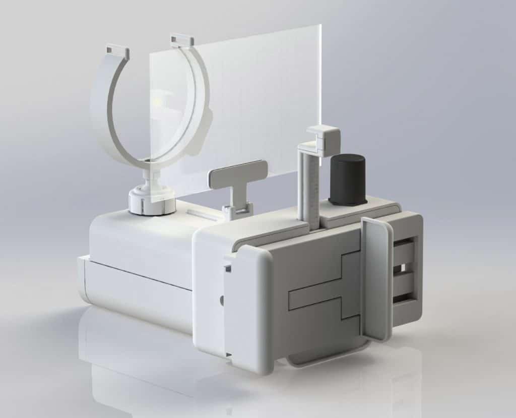 Impresión 3D de retinoscopio