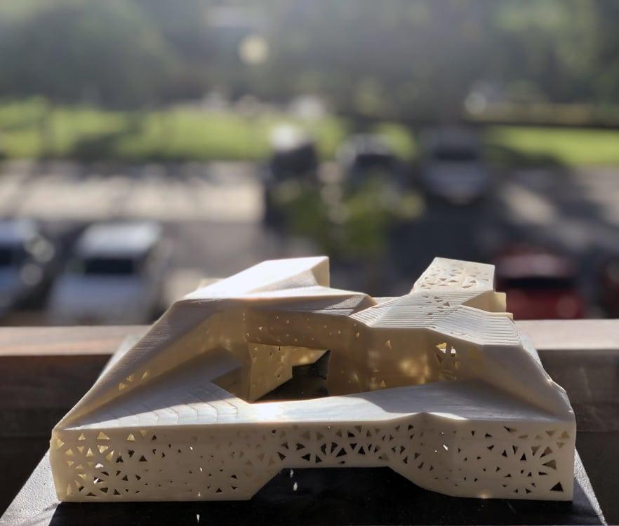 Maqueta realizada con impresión 3D